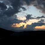 くずまき高原牧場 夕暮れ 1