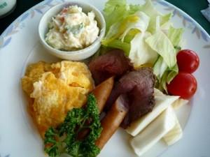 くずまき高原牧場産の朝-洋食